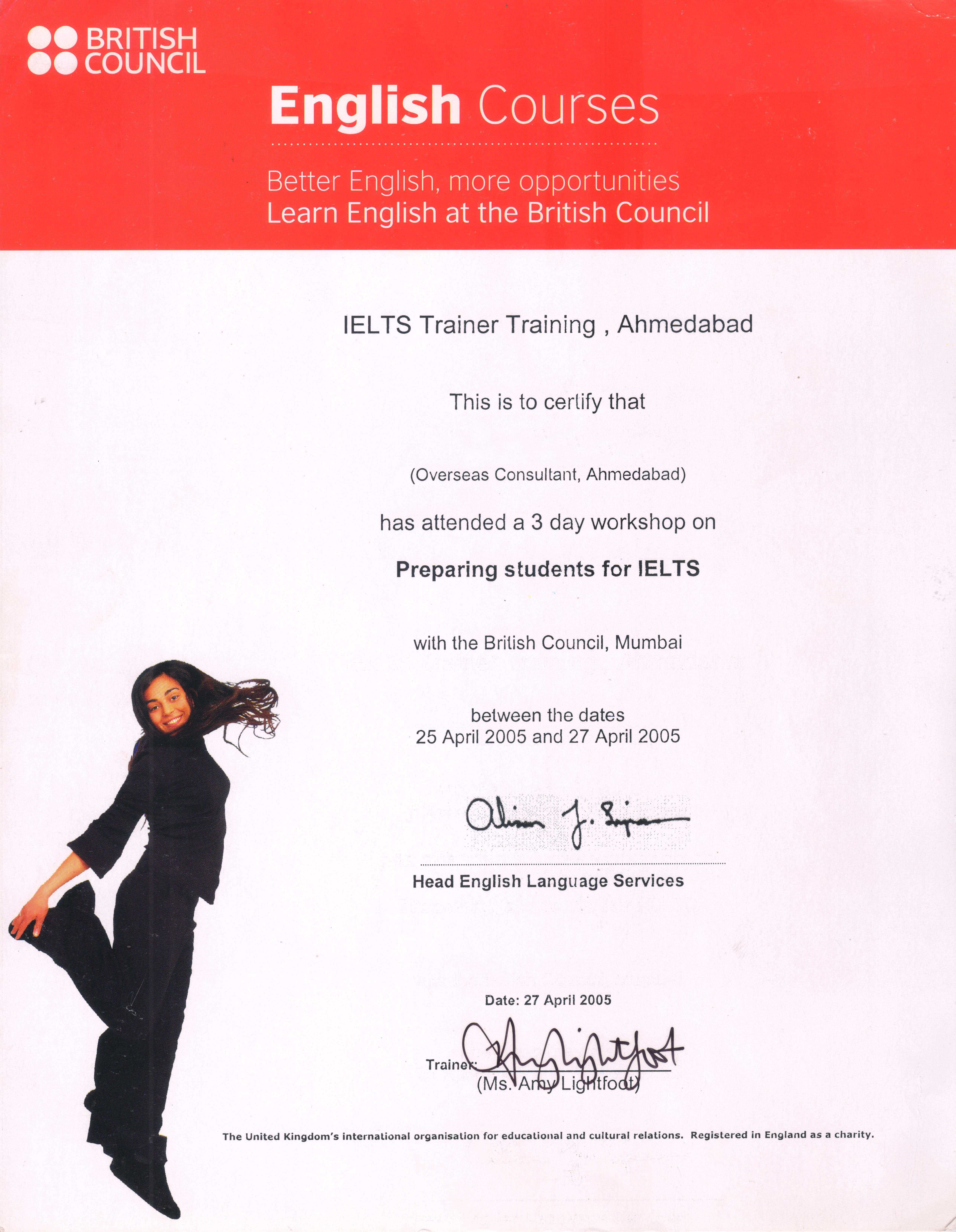 BC Training Certificate