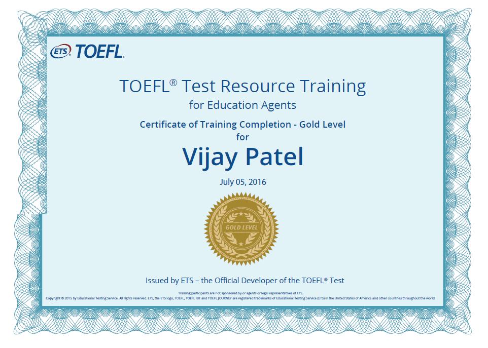 TOEFL Test Resource Training